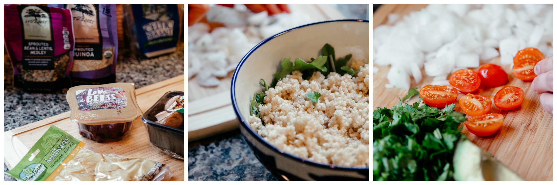 easy simple quick quinoa kale salad recipe