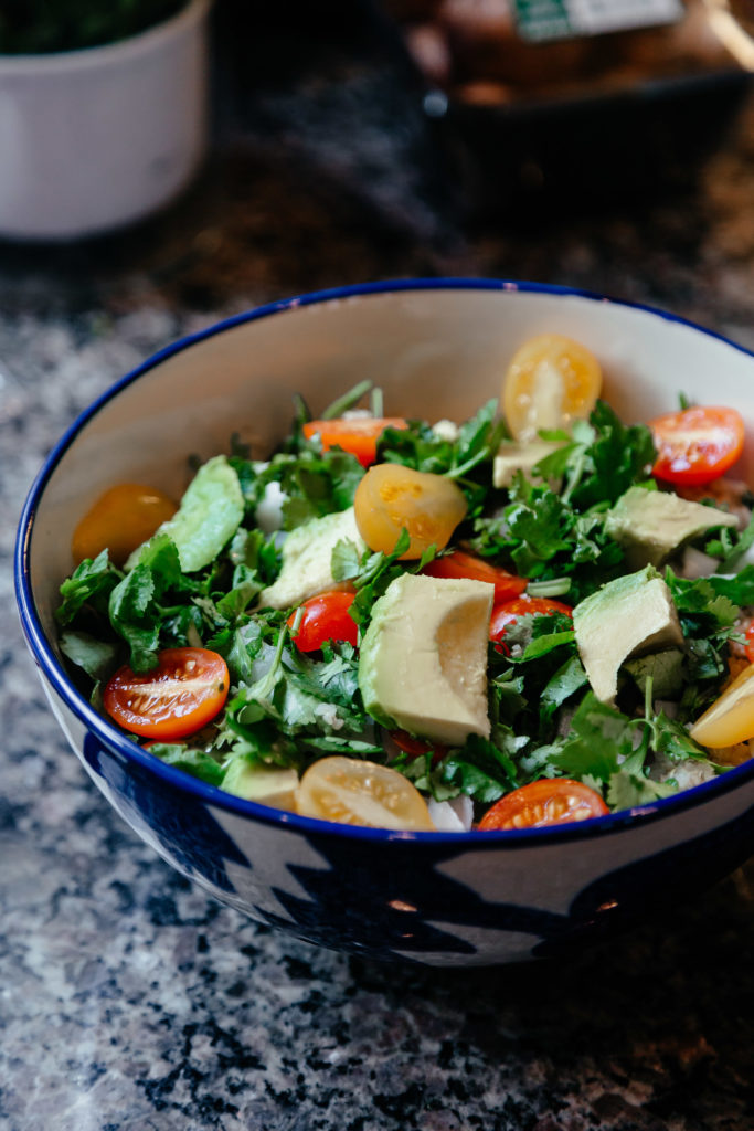 vegan plant based avocado organic salad recipe